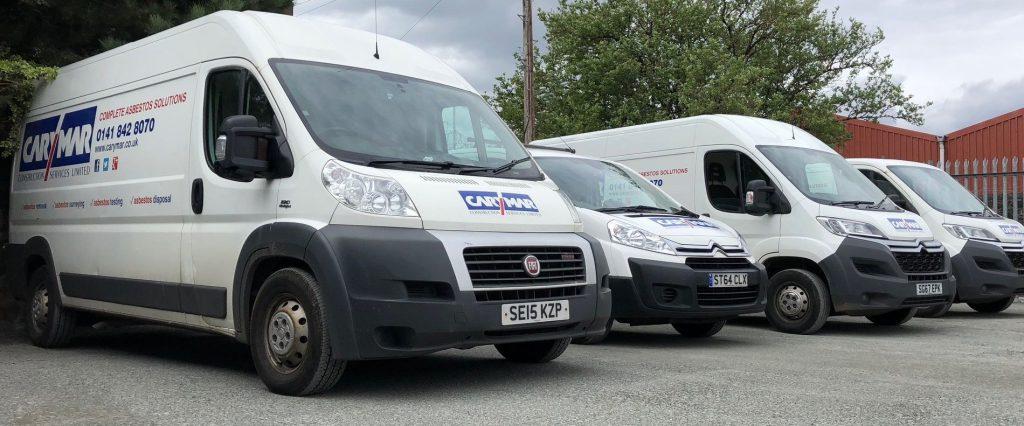 row of Carymar vans